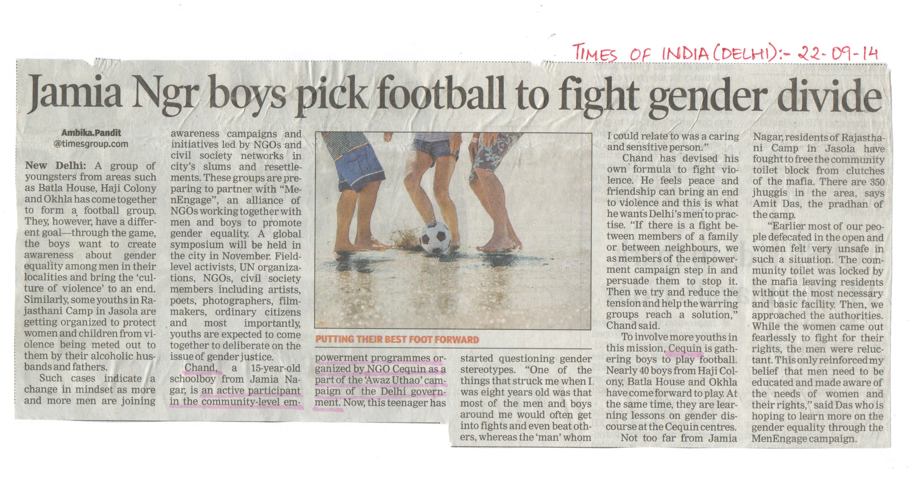 Article - Football initiative