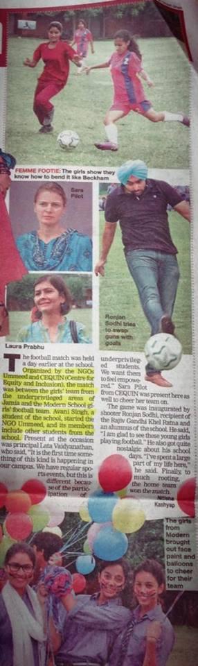 Delhi Times - Modern school match