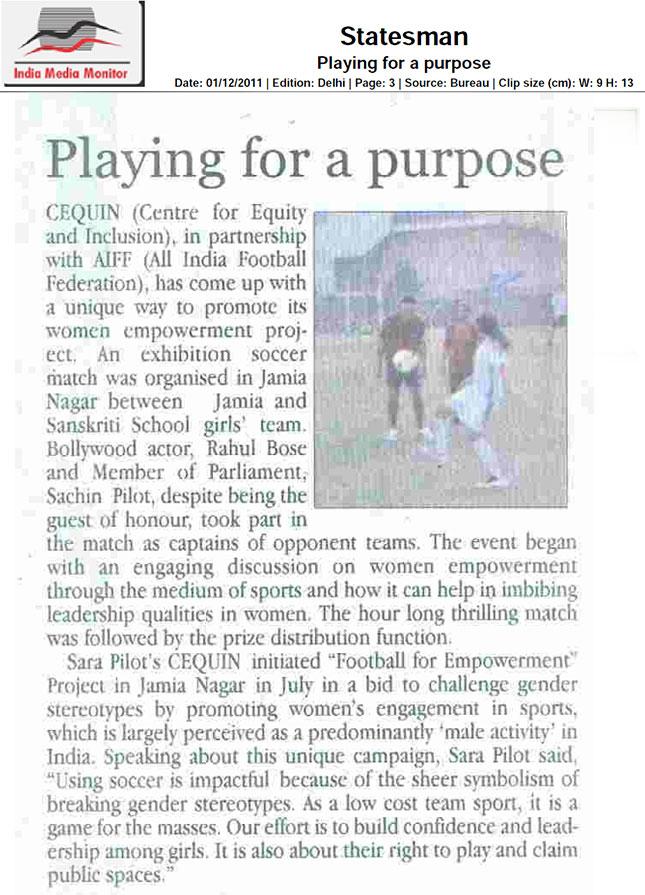 Statesman 1st Dec 2011