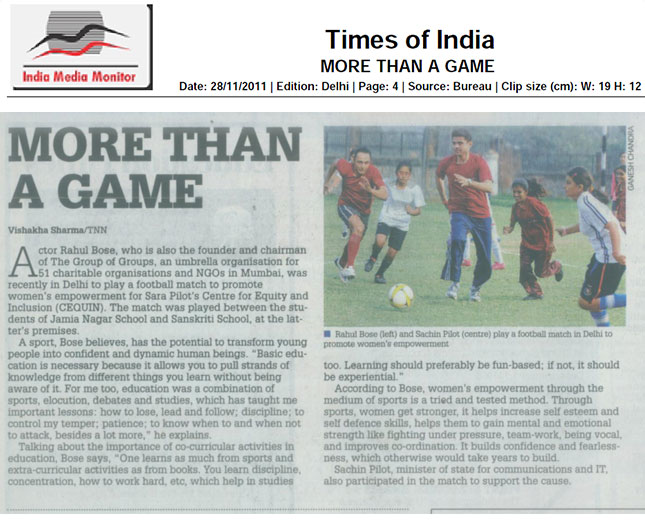 TOI (Education-Times) 28th Nov 2011